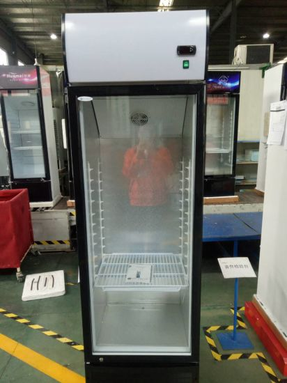 Huamei Wholesales Home Use Glass Door Upright Showcase Beverage Cooler