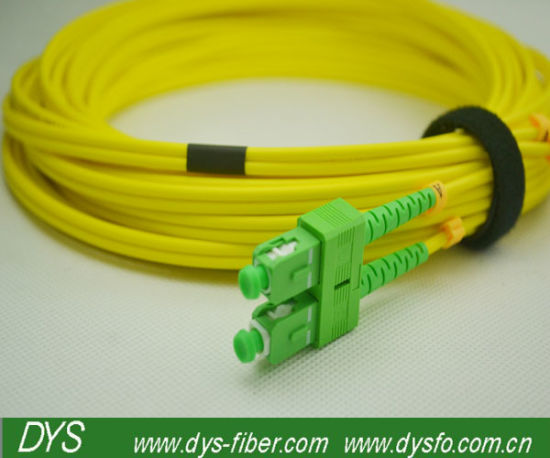 Sc APC Sm Duplex 3.0mm Fiber Optic Patch Cable pictures & photos
