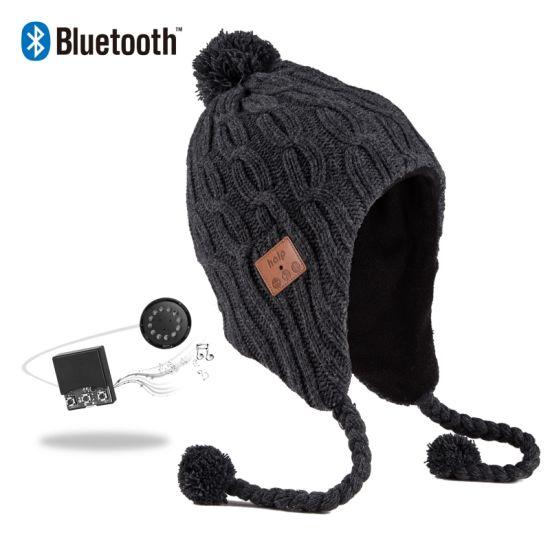 China Morewin Amazon Supplier Custom New Bluetooth Hats Winter Warm ... e2d6e3ff274