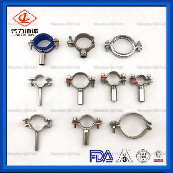 Manufacturer for Ss 304 316L Stainless Steel Sanitary Pipe Clamp Bracket  and Holder