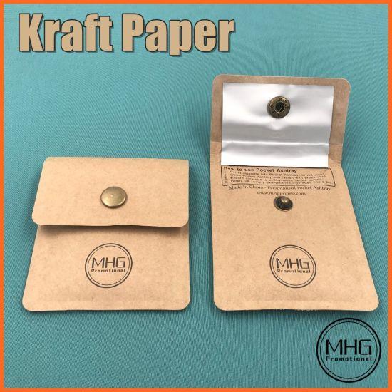 Personalised Kraft Paper Portable Pocket Ashtray