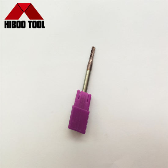 Supper Wear-Resisting Carbide Square End Mill with Violet Coating