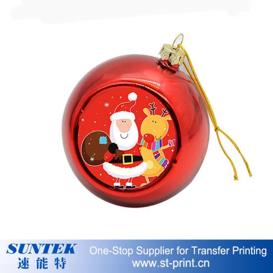sublimation printable christmas ornaments round plastic christmas ball
