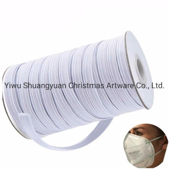 China Sewing Elastic Band Masks White Black High Elastic Flat
