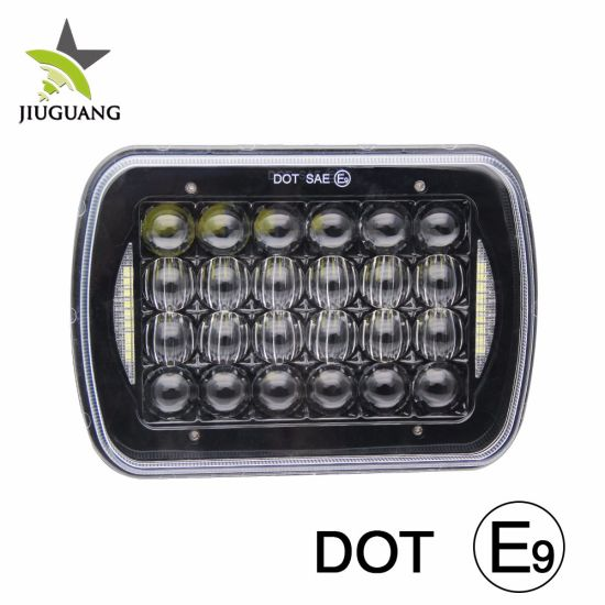 Super Bright LED Auto 7inch Head Lamp Angel Eyes DRL 48W 6500K Waterproof IP68 4X4 Jeep Truck Car Offroad 5X7 LED Headlight