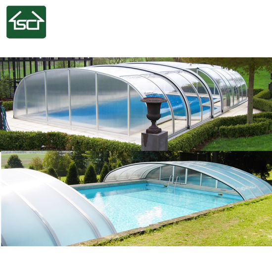 China 4X8 M Swimming Pool with Aluminum Frame and Polycarbonate ...