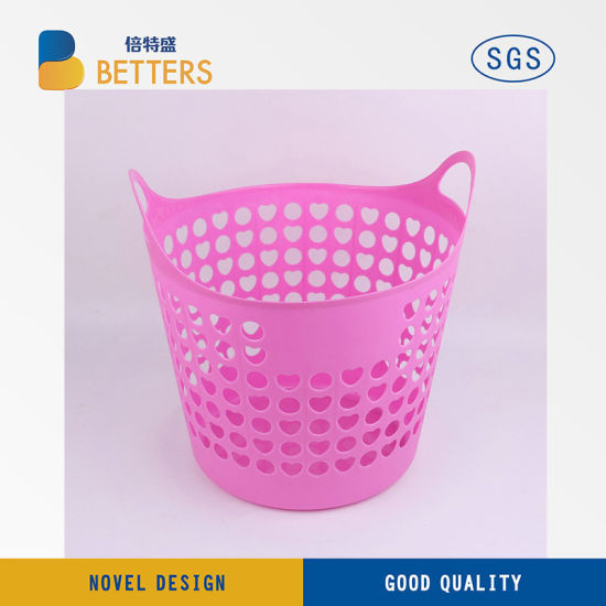 Pink Plastic Laundry Basket Beauteous China Home Usage Plastic Laundry Basket Solid Plastic Basket With