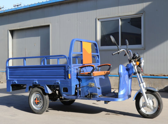 1000W Brushless Motor Electric Cargo Tricycle with Open Cargo Box pictures & photos