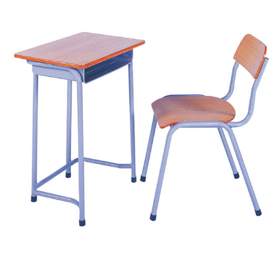 Cheap Prices Simple Used Classroom Single Study Student Desk Table/  Children School Desk And Chair Set