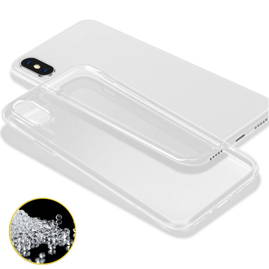 detailed look 47358 c5d1b Clear Thin Slim Fit Transparent Protective Cover Premium Flexible Soft TPU  Bumper Case for iPhone X 10