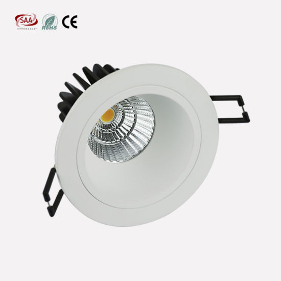 Anti-Glare Dimming 7W 9W 90mm Cut out COB LED Downlight with Die Casting Aluminum