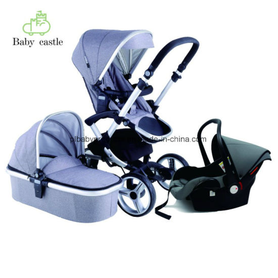 En 1888 Luxury Fashion Aluminum Baby Stroller with Seat or Carry Cot or Carseat