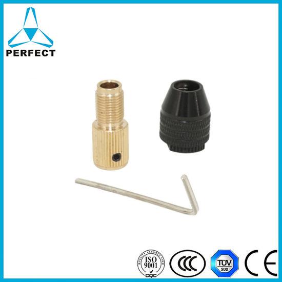 0.3-3.4mm Black Drill Bit Chuck Adapter Three-Jaw Drill Chuck Brass Base w NEW