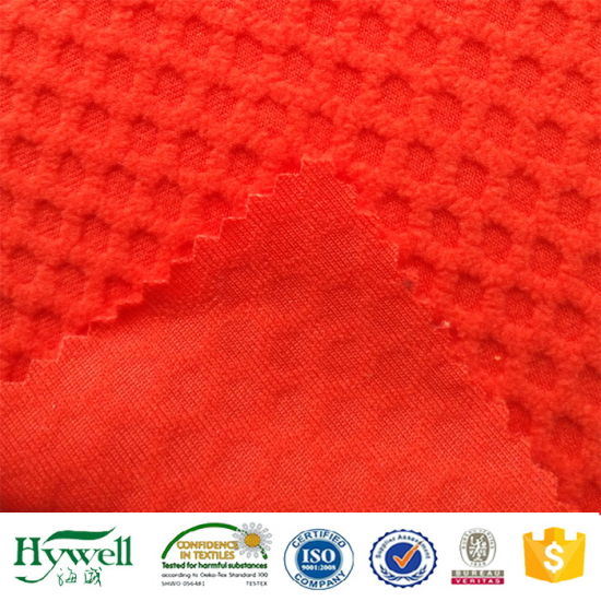 4aa85f847c7f7 China 100% Polyester Jacquard Fleece Fabric for Softshell Lining ...