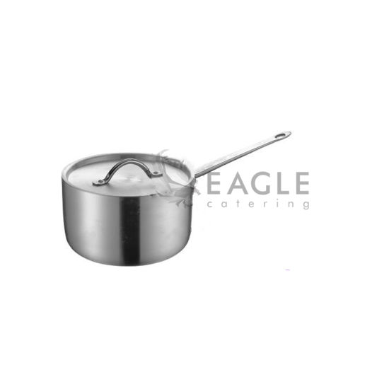Stainless Steel Sauce Pot with Single Straight Type Handle