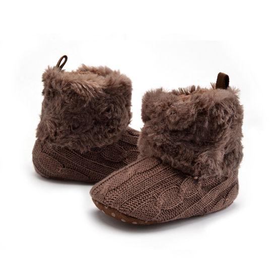 Winter Newborn Unisex Baby Girls Boys Velvet Rubber Sole Anit-Slip Shoes Prewalker Boots Esg11291