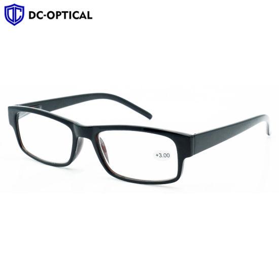 Ce FDA Women Men Vintage Square Fashion Plastic Reading Glasses