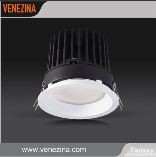 IP44 Ce Alumium Round Wholesale Recessed Downlight 10W, 15W, 20W, 25W LED Down Light for Hotel/Lobby/Classroom/Restaurant/Mall Lighting Project