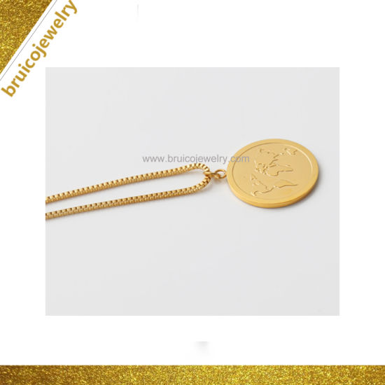 67a1b86efe4df7 New Design Item Fashion Necklace Jewelry Round Shaped 9K 14K 18K Yellow Gold  Necklace