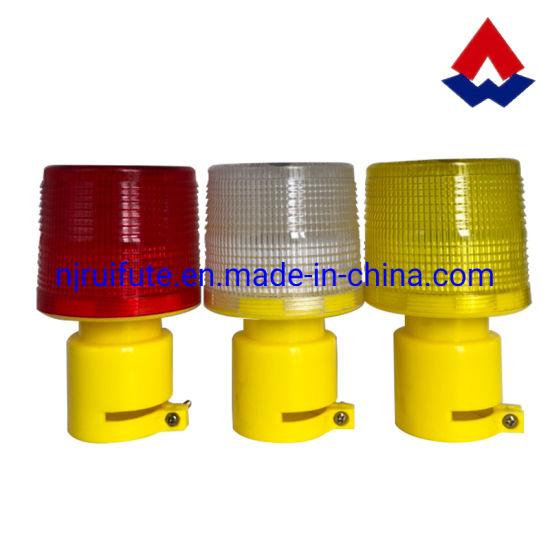 Solar Road Warning Strobe Light LED Beacon Light