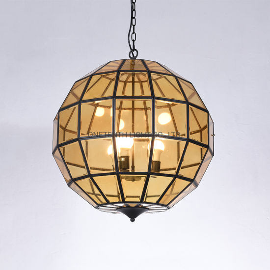 Copper Frame and Metal Canopy Pendant Lamp Chandelier