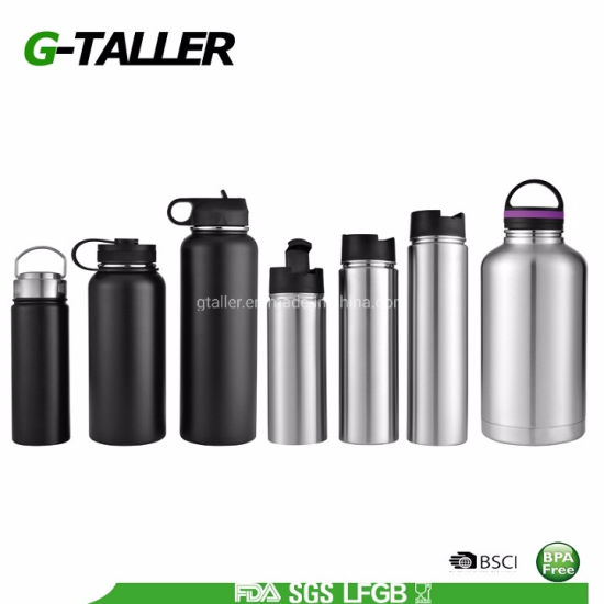 Double Wall Stainless Steel Insulated Vacuum Flask Thermal Sports Bottle
