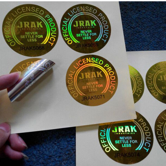 3D Holographic Laser Anti-Counterfeiting Security Self Adhesive Printing Label Sticker