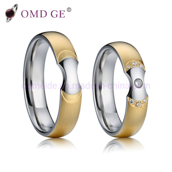 53cd11464c131 China Omd Fashion Stainless Steel Promise Rings for Men Women Couple ...