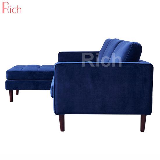 Tremendous China Modern Fabric Velvet Navy Blue Left Chaise Lounge Inzonedesignstudio Interior Chair Design Inzonedesignstudiocom
