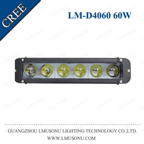 Lmusonu Super Slim 4D LED Light Bar Single Row 60W 12V 11 Inch Automotive off Road CREE Chips Car Bar Lights
