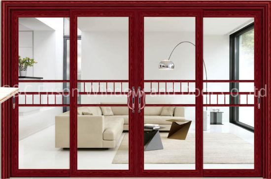 China Aluminium Frame with Laminate Tempered Glass Sliding Door ...
