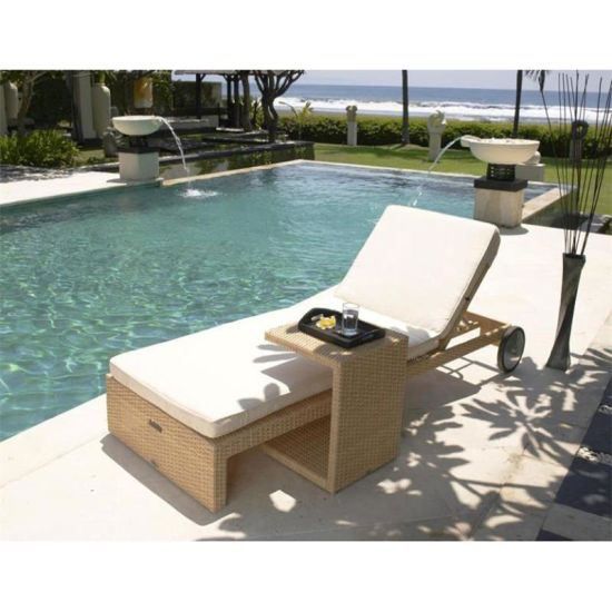 Outdoor Furniture General Use and Rattan / Wicker Material Rattan Outdoor Round Sunbed