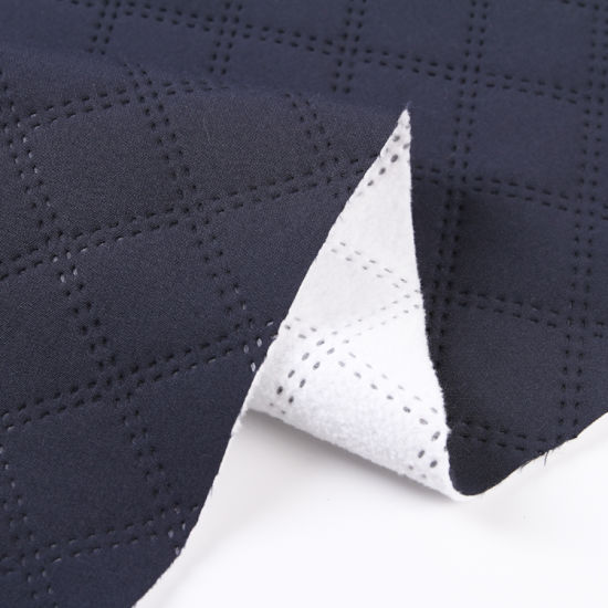 100% Polyester Fashionable Faux Suede Bonded Fleece/Compound Fleece