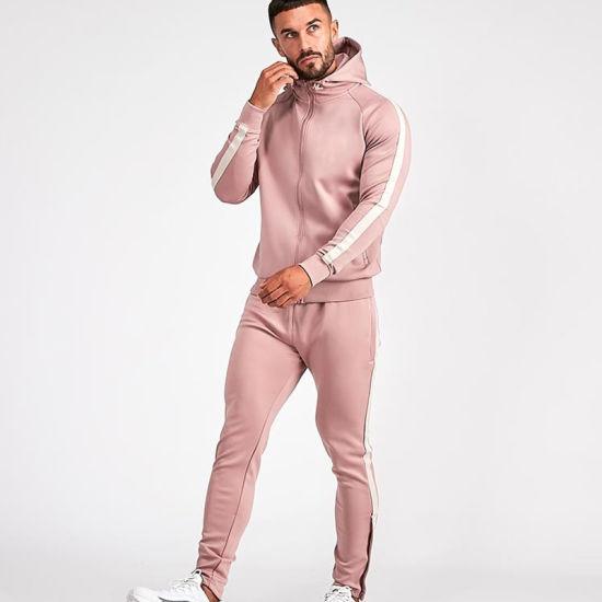 Bright Color Jacket with Side Pockets & Zip Design Jogger Suits for Men