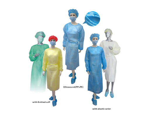 Medical Yellow Disposable Isolation Gown