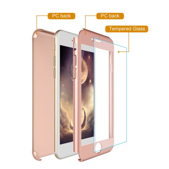Newest Arrival 360 Degree Full Protective Mobile Phone Case for iPhone 6 with Glass Screen Protector pictures & photos