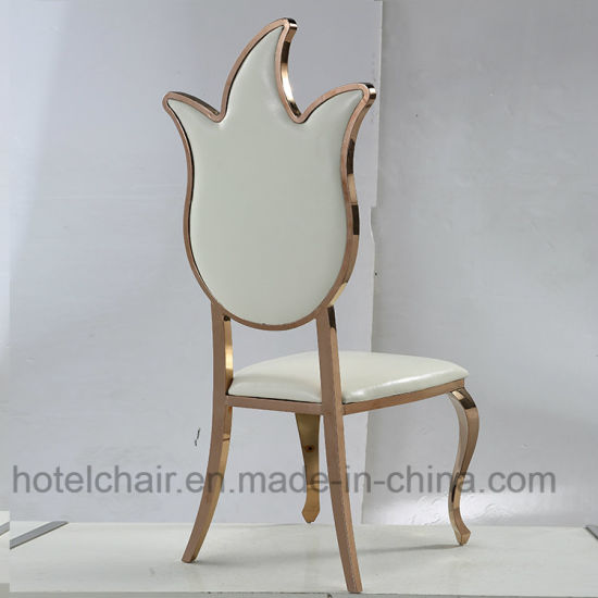 New Modern Stainless Steel PU Hotel Wedding Chair (LH-634Y) pictures & photos