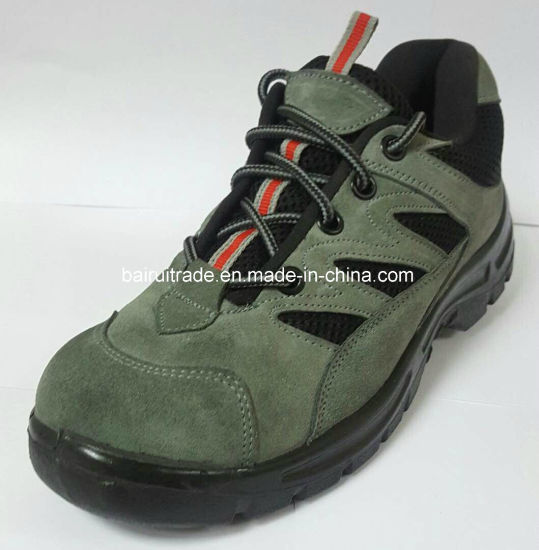 Black PU Injection Outsole Safety Worker Shoes pictures & photos