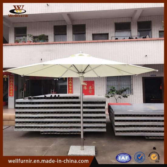 Outdoor Aluminum Round Square Double Roof Umbrella (WFU1901)
