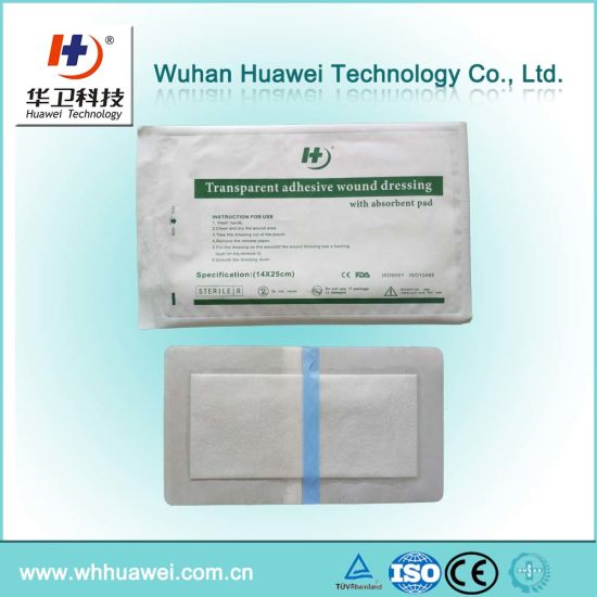 Professional Supplier Pressure Sensitive Adhesive Wound Care Surgical Transparent Dressings pictures & photos