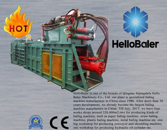 Hello baler brand automatic hydraulic pressing baling packaging strapping baler for waste paper pulp cardboard carton plastics scraps straw hay grass