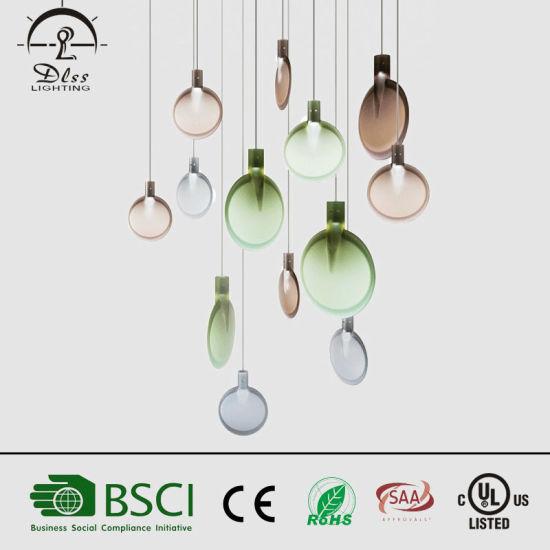 2017 Newest Creative Design Gl Led Ping Pong Bat Shape Pendant Lamp Pictures Photos