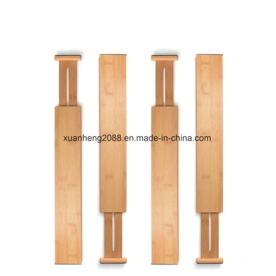 China Kitchen Expandable Bamboo Drawer Organizer Cutlery Utensil