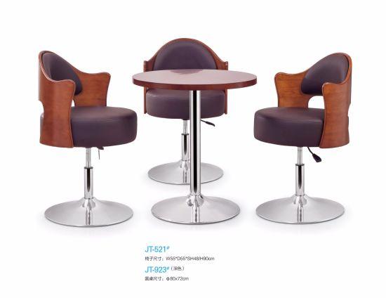 China Indoor Club Bar Furniture Sets Wooden Top Bar Stool - China ...
