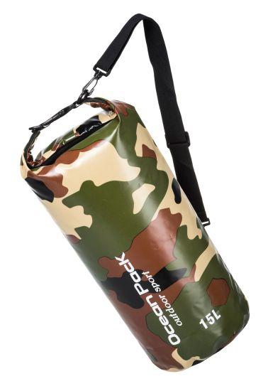 0.52mm 500d PVC Camouflage Tarpaulin Drift Bag 2L-30L