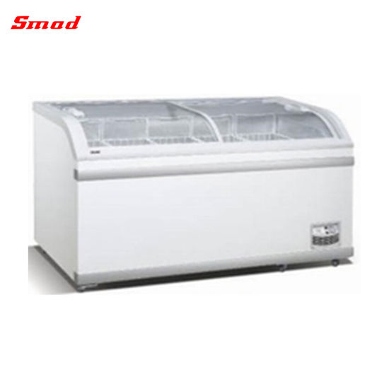 368L 500L 700L Commercial Supermarket Chest Deep Ice Cream Display Freezer