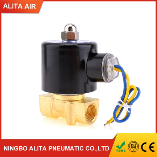 AC220V 2/2way Direct Acting Normally Closed 3/8 Inch Water Solenoid Valve