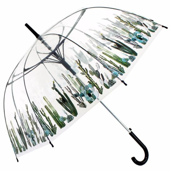 Kids Transparent Clear Bubble Dome Shape Umbrella with Customized Design Printing