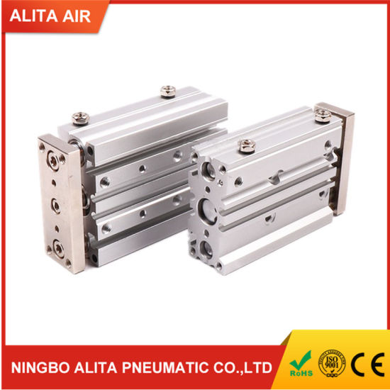Compact Pneumatic Air Cylinder with Guide Rod Cylinder