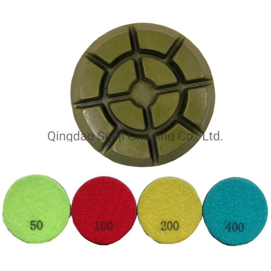 "Concrete Resin Diamond Floor Polishing Pad Grinding Tools 3""/4"" 10mm Thickness"